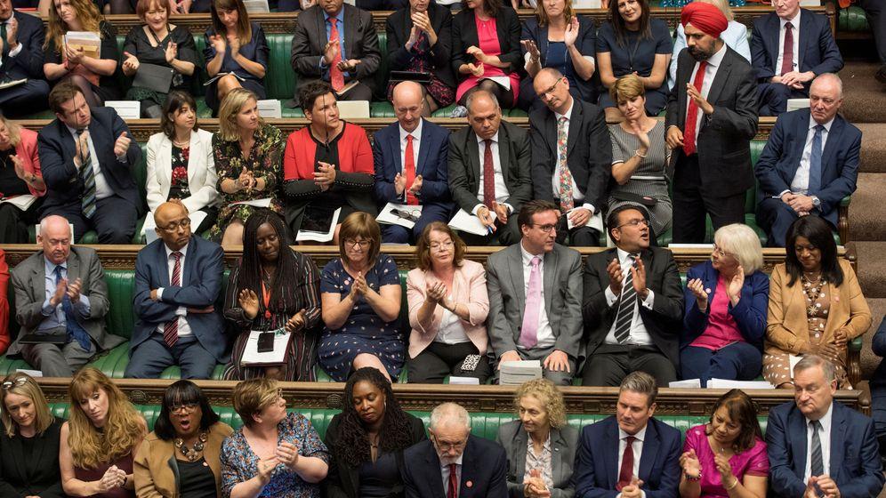Foto: La bancada laborista en Parlamento británico. (Reuters)