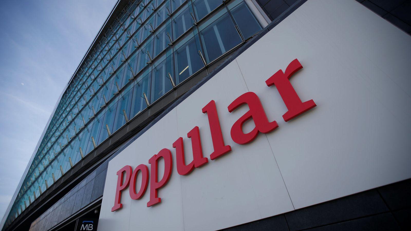 Foto: Imagen del logo de Banco Popular. (Reuters)