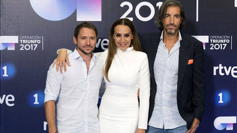 Joe Pérez-Orive junto a sus compañeros del jurado de 'OT 2017'.