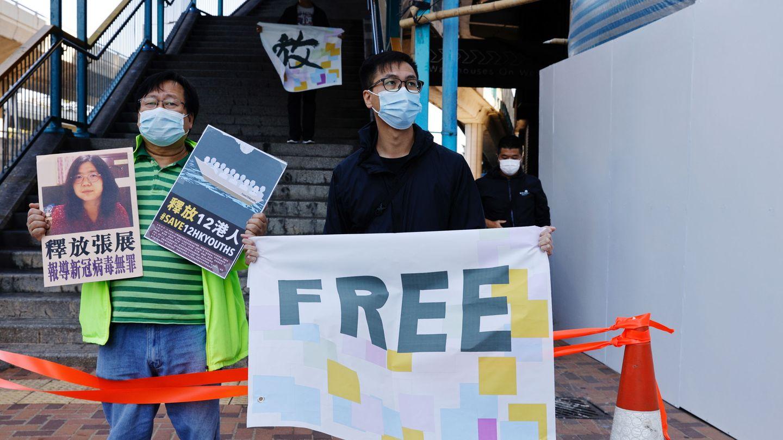 Protestas en Hong Kong contra la detención de activistas y periodistas. (Reuters)