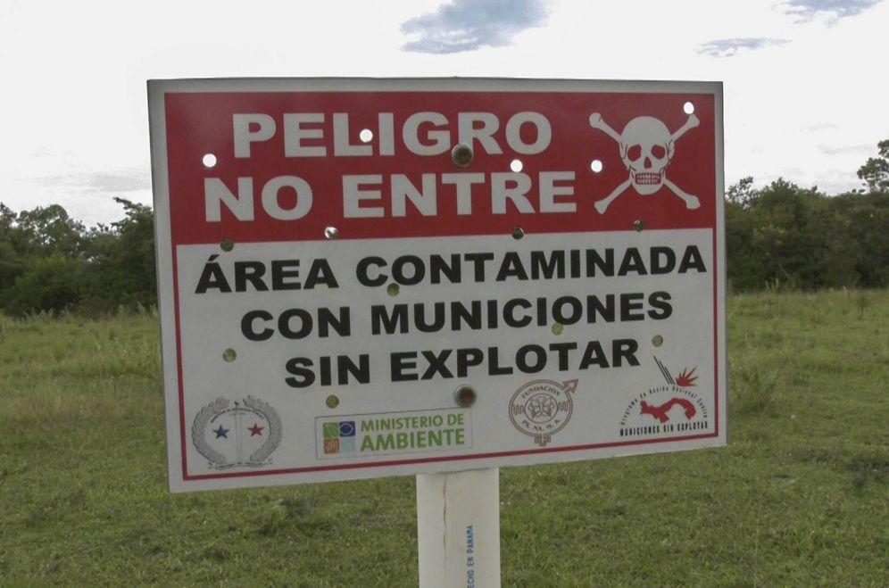 Foto: Un letrero advierte del peligro en Panamá. (Foto: Aitor Sáez)