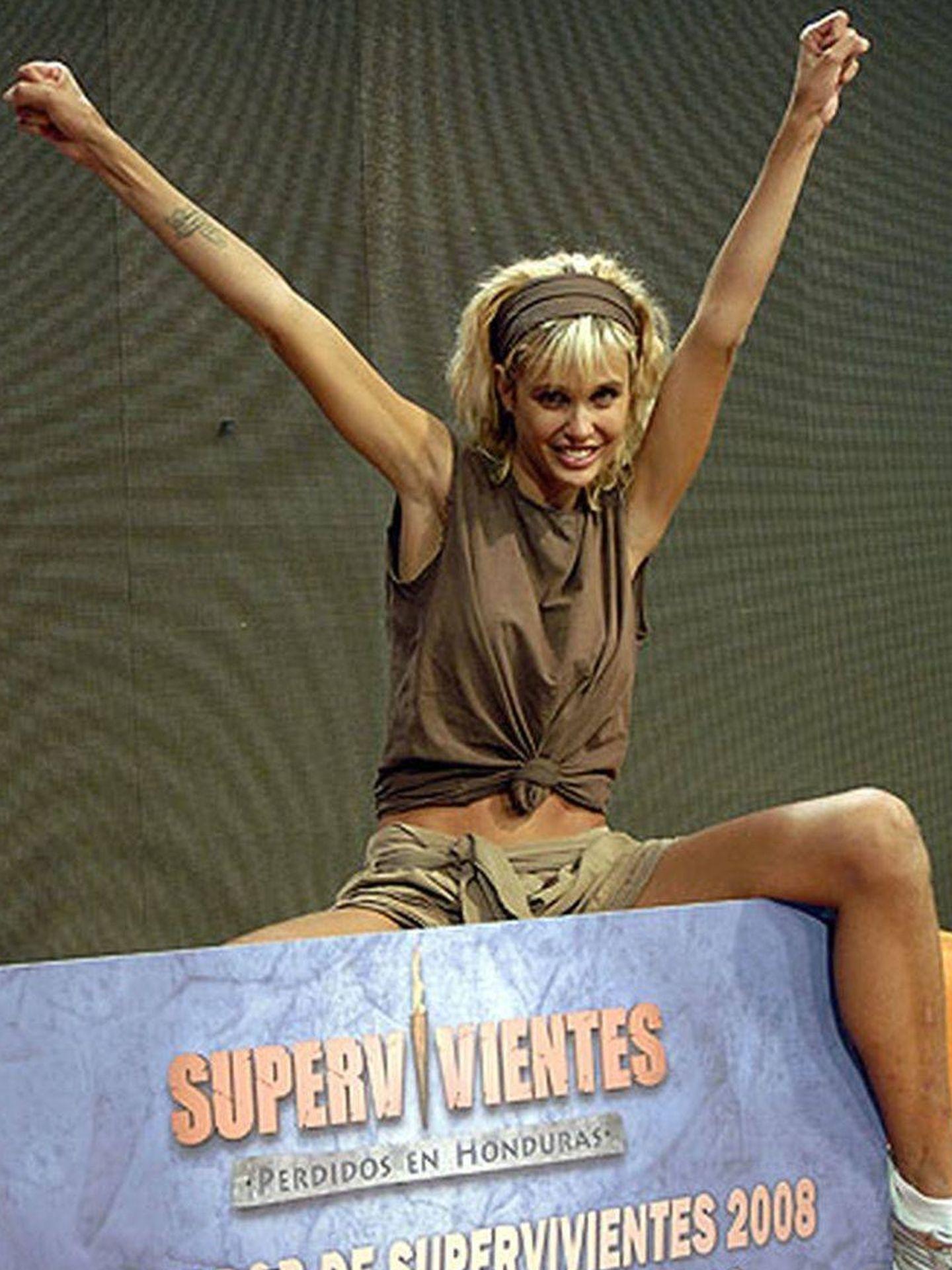 Sánchez tras ganar 'Supervivientes'. (Mediaset)