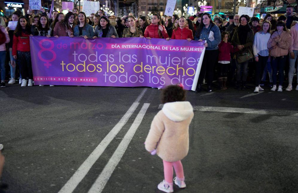 Foto: Manifestación del 8 de marzo de 2018 en Santander. (EFE)