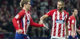 Post de Los problemas del Atlético: Griezmann y Carrasco, hartos de correr por Simeone