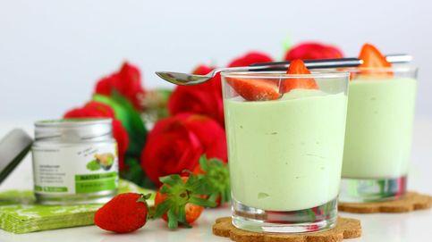 Mousse de té matcha y queso fresco: un postre sencillo y colorido