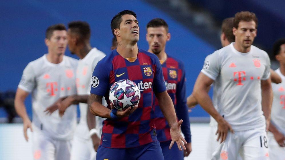 Foto: Luis Suárez durante su partido frente al Bayern Munich. (Reuters)