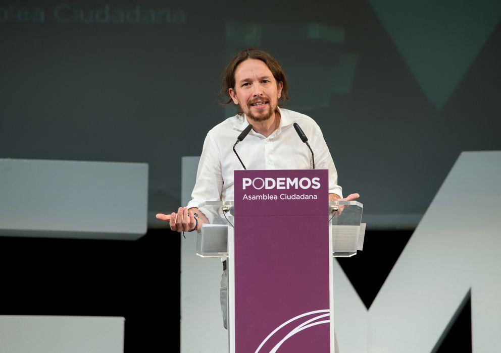 Foto: Pablo Iglesias, durante su discurso de proclamación como secretario general de Podemos. (Daniel Muñoz)