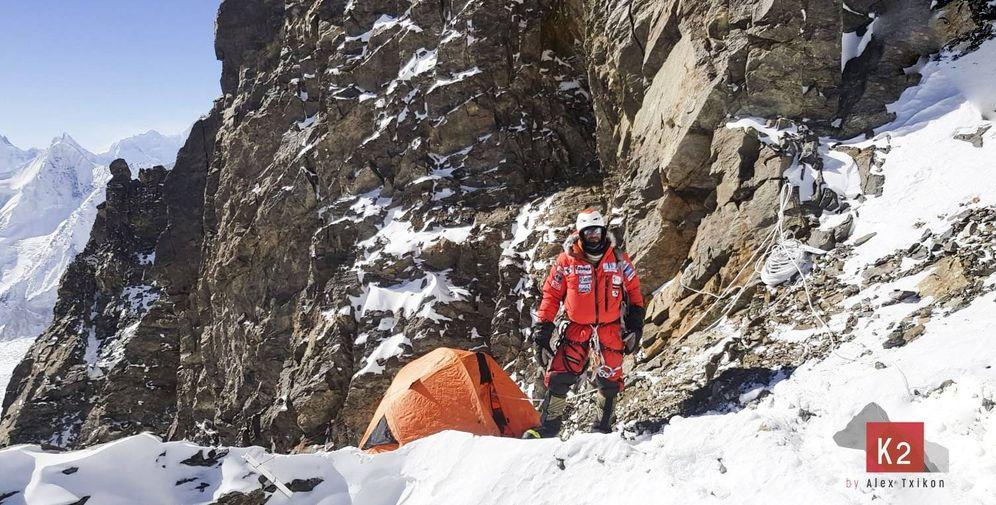 Foto: Alex Txikon durante la expedición invernal al K2. (Foto: Alex Txikon)