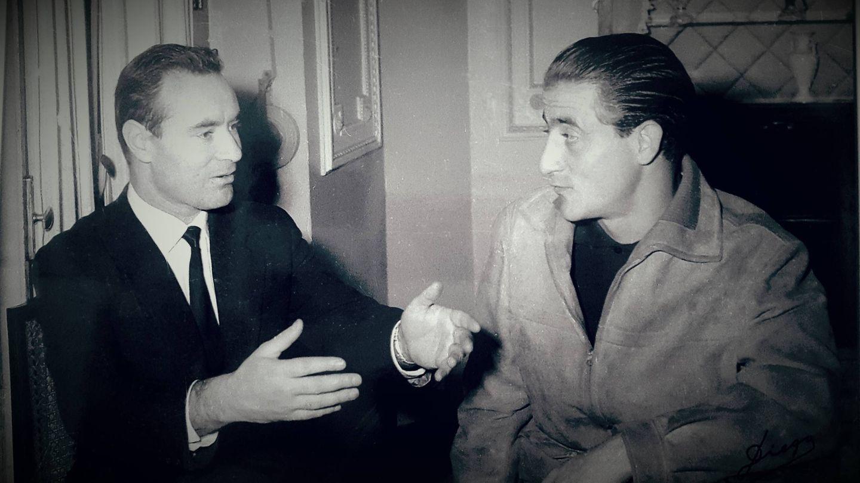 Diego Rodríguez junto a Santiago Martín, el Viti.