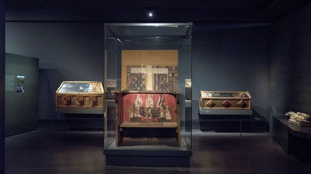 Foto: Los bienes de Sijena en el Museo Diocesano de Lleida. (EFE)