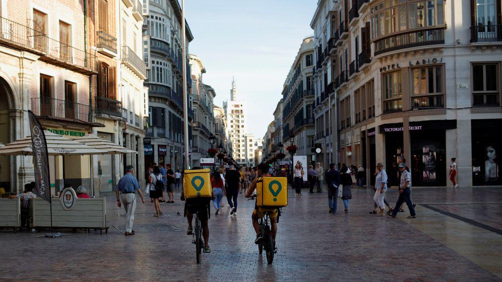 Foto: 'Riders' de Glovo. (Reuters)