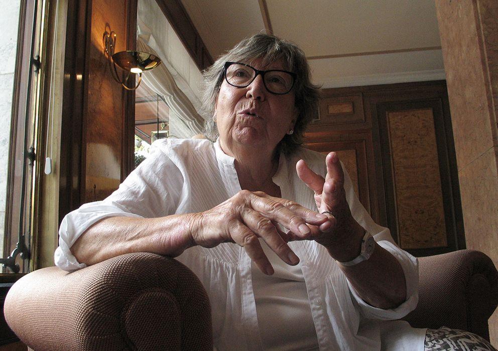 Foto: La fotoperiodista Juana Biarnés durante la entrevista en Barcelona. (PHR)