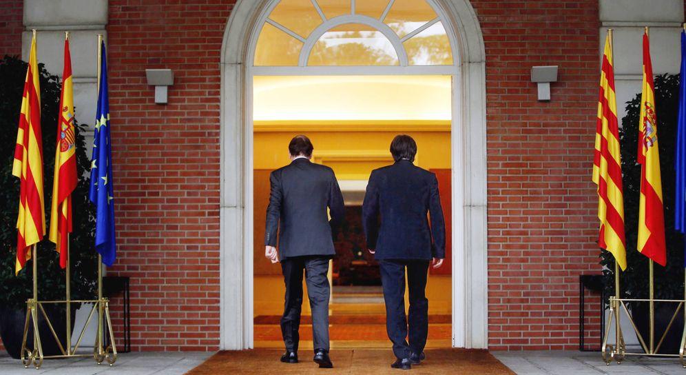 Foto: Mariano Rajoy y Carles Puigdemont en La Moncloa. (EFE)