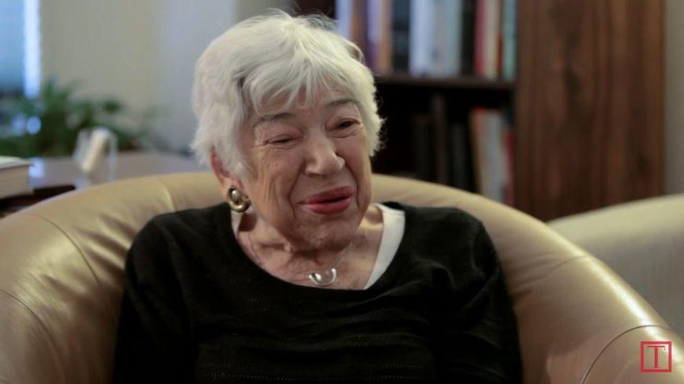 Foto: Shirley Zussman en un documental de Time.