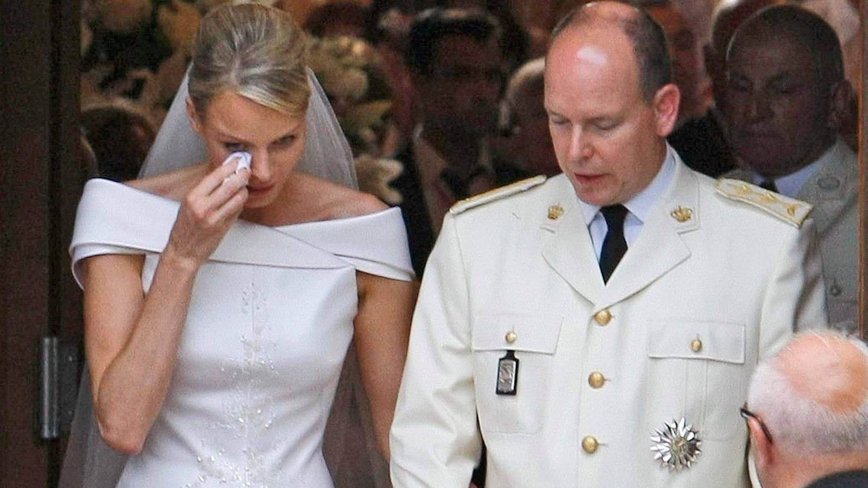Alberto y Charlène el día de su boda (EFE)