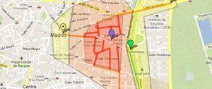 Foto: El mapa del 25-A para asaltar el Congreso