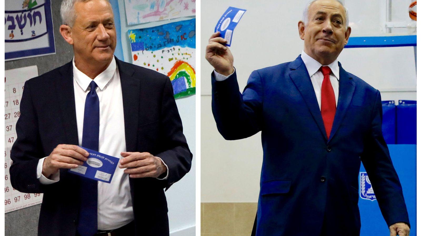 Foto: Benny Gantz y Benjamin Netanyahu. (Reuters)