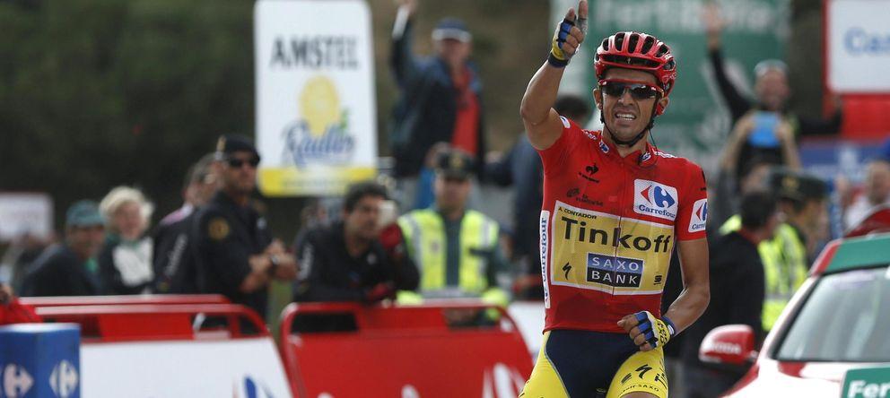 Alberto Contador da un golpe de autoridad encima de la mesa de la Vuelta a España