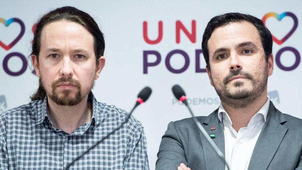 Foto: Pablo Iglesias y Alberto Garzón. EFE
