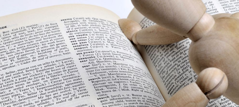 Foto: Ante la duda, mejor consultar el diccionario. (iStock)