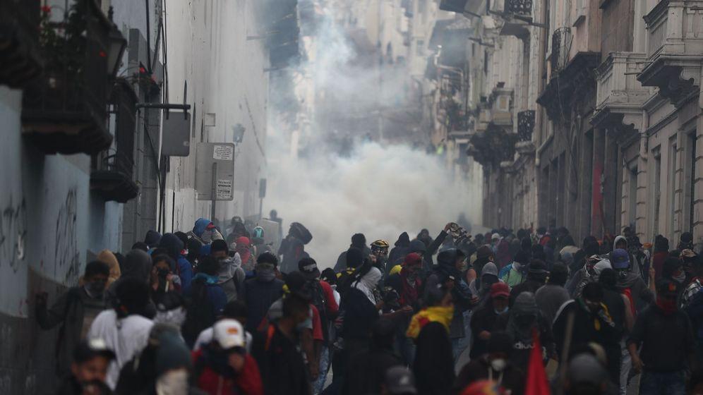 Foto: Manifestaciones en Ecuador por medidas económicas tras acuerdo con el FMI. (EFE)