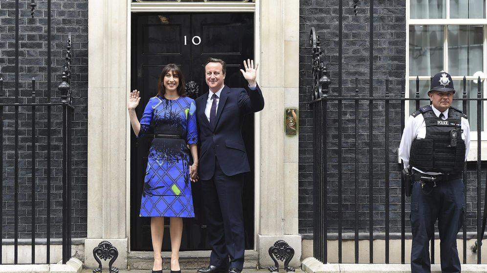 Foto: Cameron en Downing Street. (Efe)