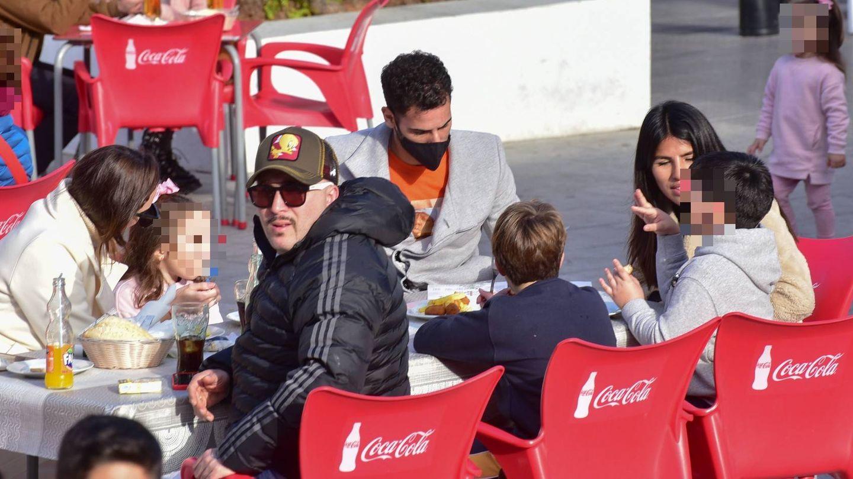 La reunión de los hermanos Pantoja en Sevilla. (Cordon Press)