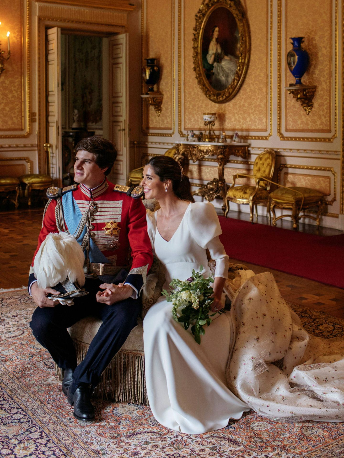 El bronceado de Belén Corsini en su boda fue una parte fundamental de su look. (Foto: Alejandra Ortiz)