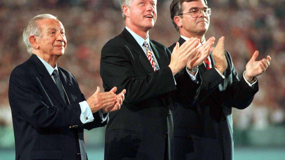 Foto: Juan Antonio Samaranch y Bill Clinton (Reuters)