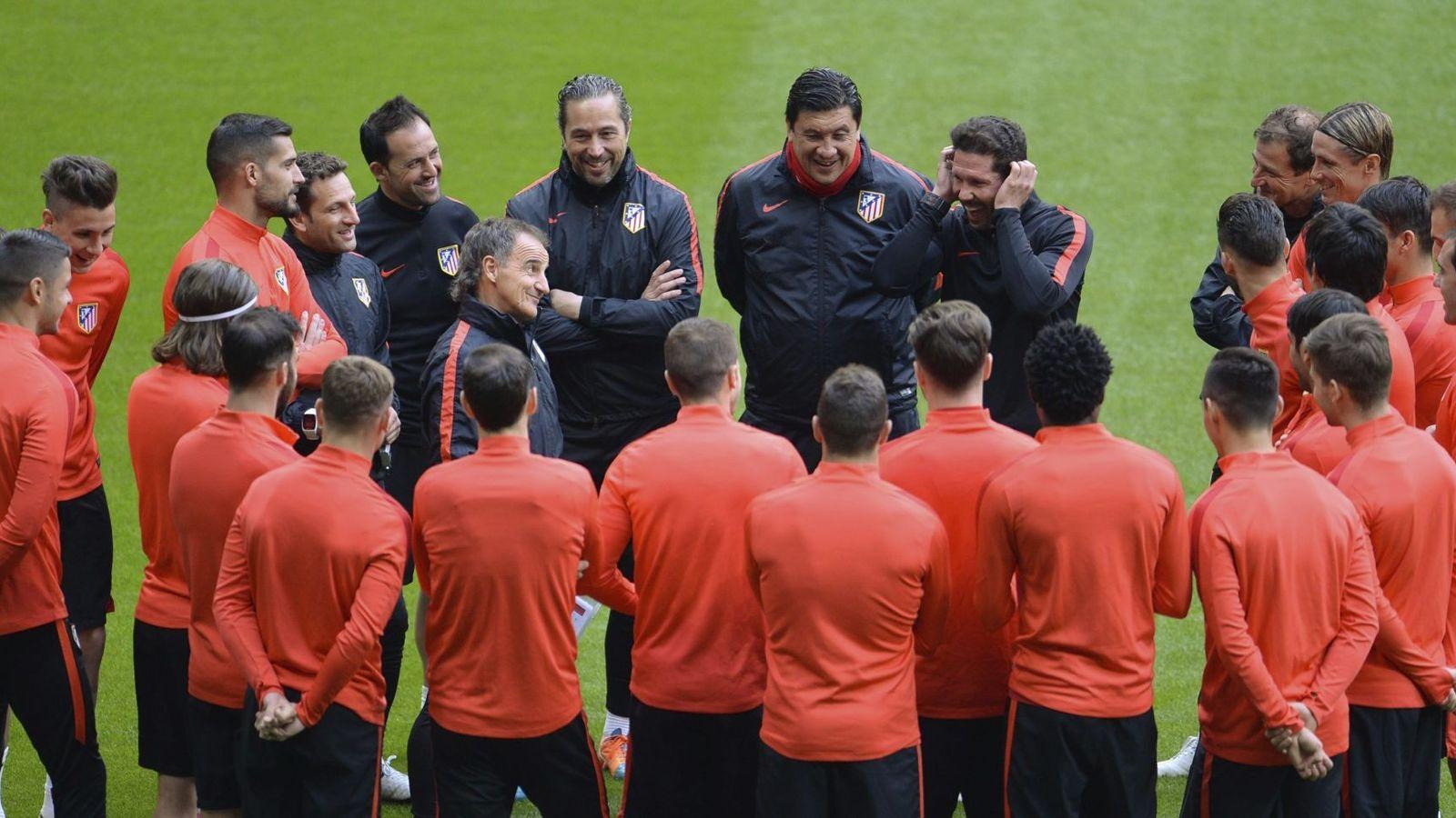 Foto: Entrenamiento del Atlético de Madrid en el Allianz Arena. (Reuters)