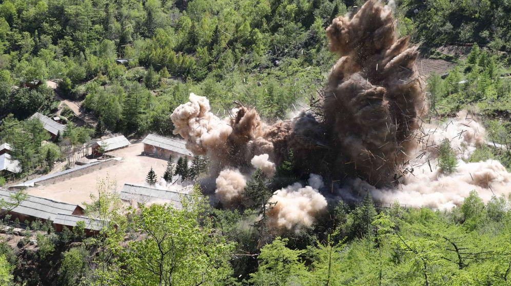 Foto: Corea del Norte desmantela la instalación de pruebas nucleares Punggye-ri. (EFE)
