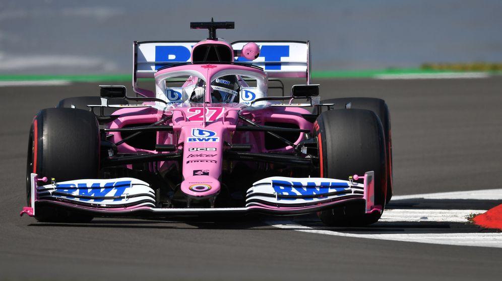 Foto: Nico Hulkenberg durante los entrenamientos libres del GP de Gran Bretaña de Fórmula 1. (REUTERS)