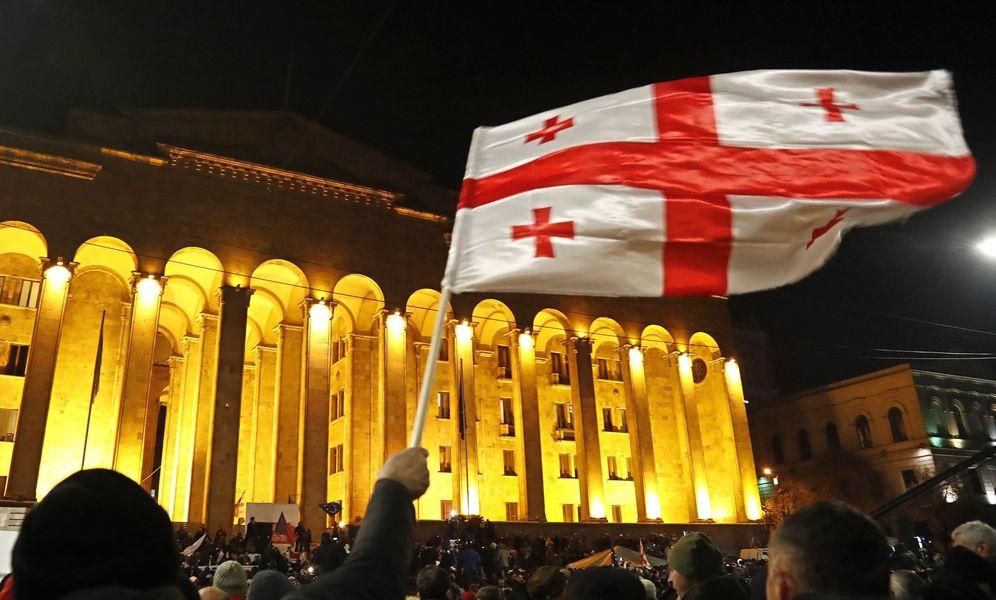 Foto: Una manifestación en Tblisi. (Reuters)