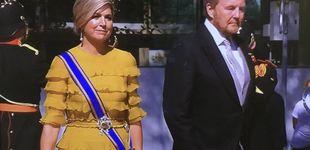 Post de Máxima de Holanda deslumbra con un vestido amarillo de volantes en el Prinsjesdag