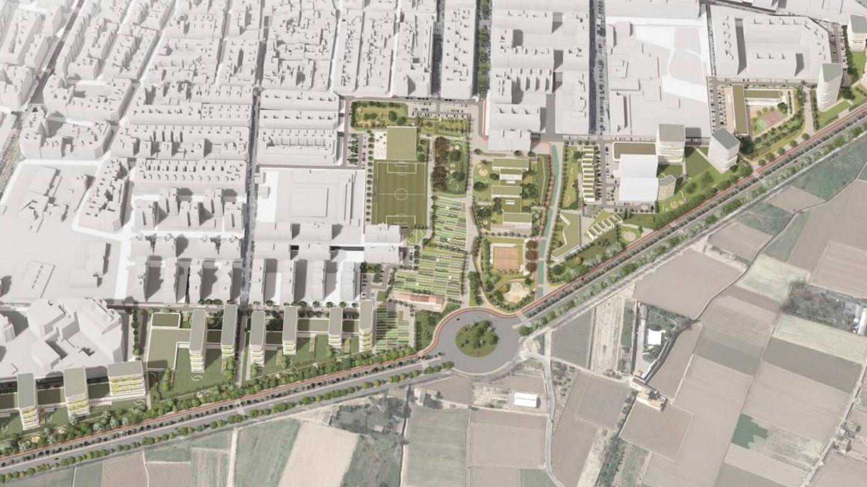 El proyecto de urbanización del sector del PAI de Benimaclet de Valencia propuesto por Metrovacesa.