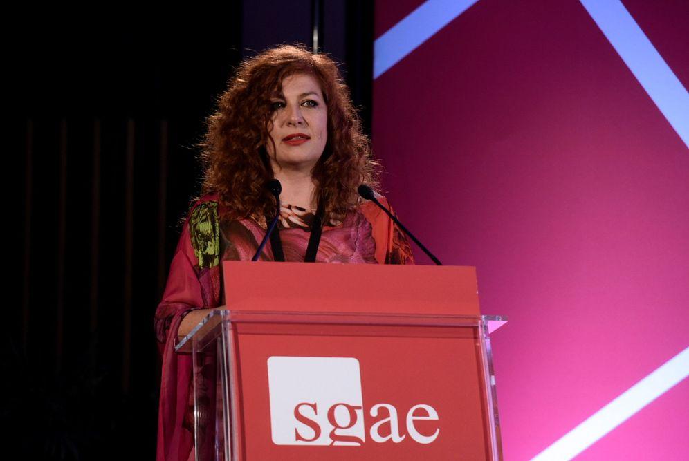 Foto: Pilar Jurada en la asamblea general de SGAE (efe)
