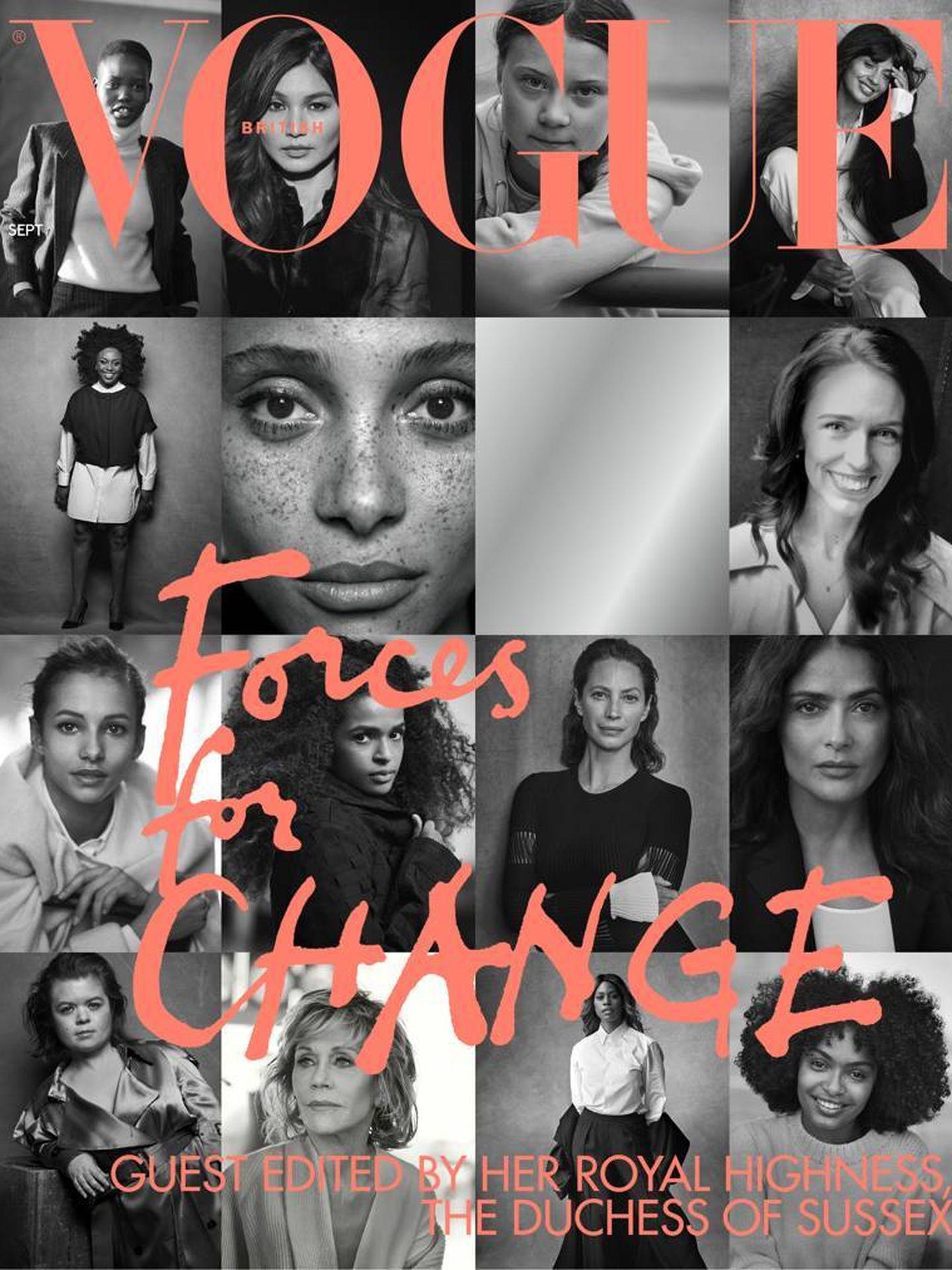 Portada del próximo número de la edición británica de 'Vogue'. (Peter Lindbergh)