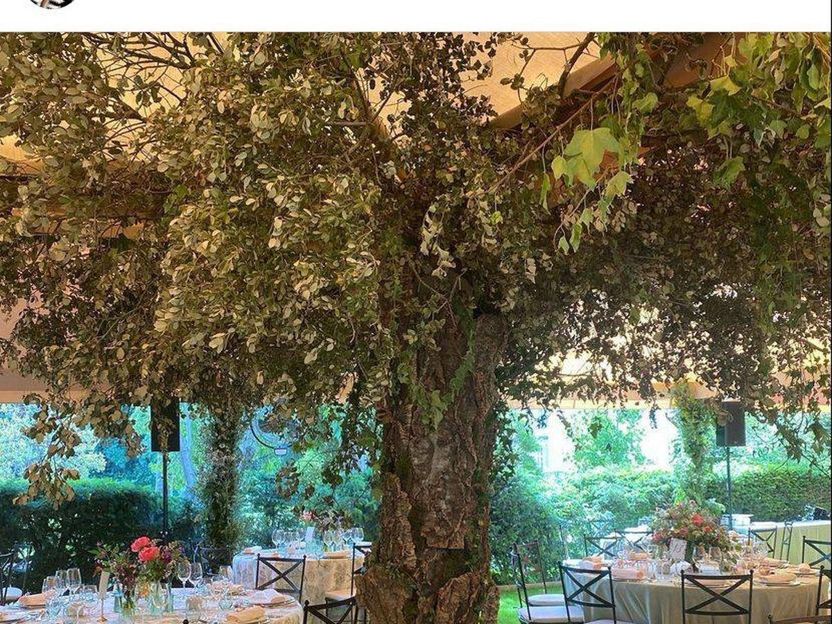 Foto: Los jardines del Palacio de Liria en la boda de Carlos Fitz-James y Belén Corsini. (IG)