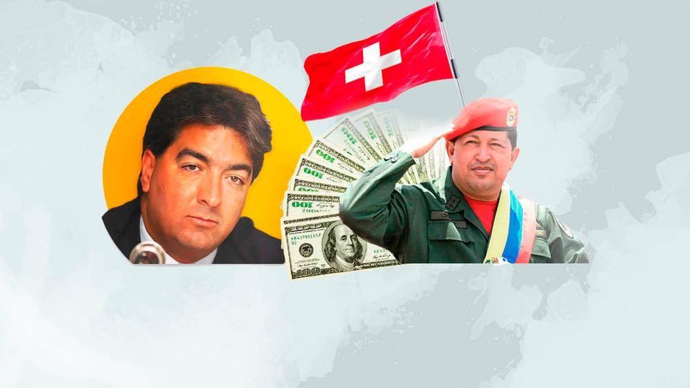 Foto: El empresario venezolano Danilo Díazgranados (i) y Hugo Chávez. (EC)