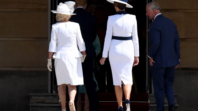 Melania Trump y la duquesa de Cornualles. (Reuters)