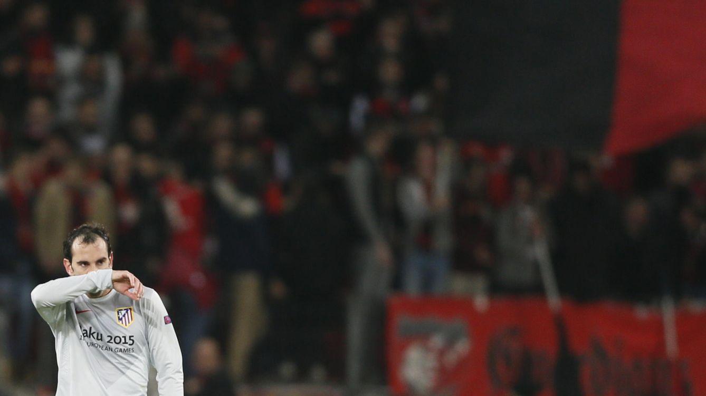 Foto: El Atlético realizó muchos menos kilómetros en Leverkusen que habitualmente (Reuters).