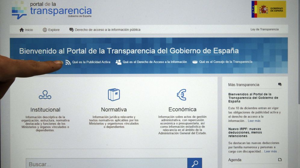 Foto: Imagen de archivo del Portal de la Transparencia (transparencia.gob.es) del Gobierno de España. (EFE)