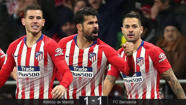 Foto: Diego Costa celebró con rabia su gol ante el FC Barcelona. (Reuters)