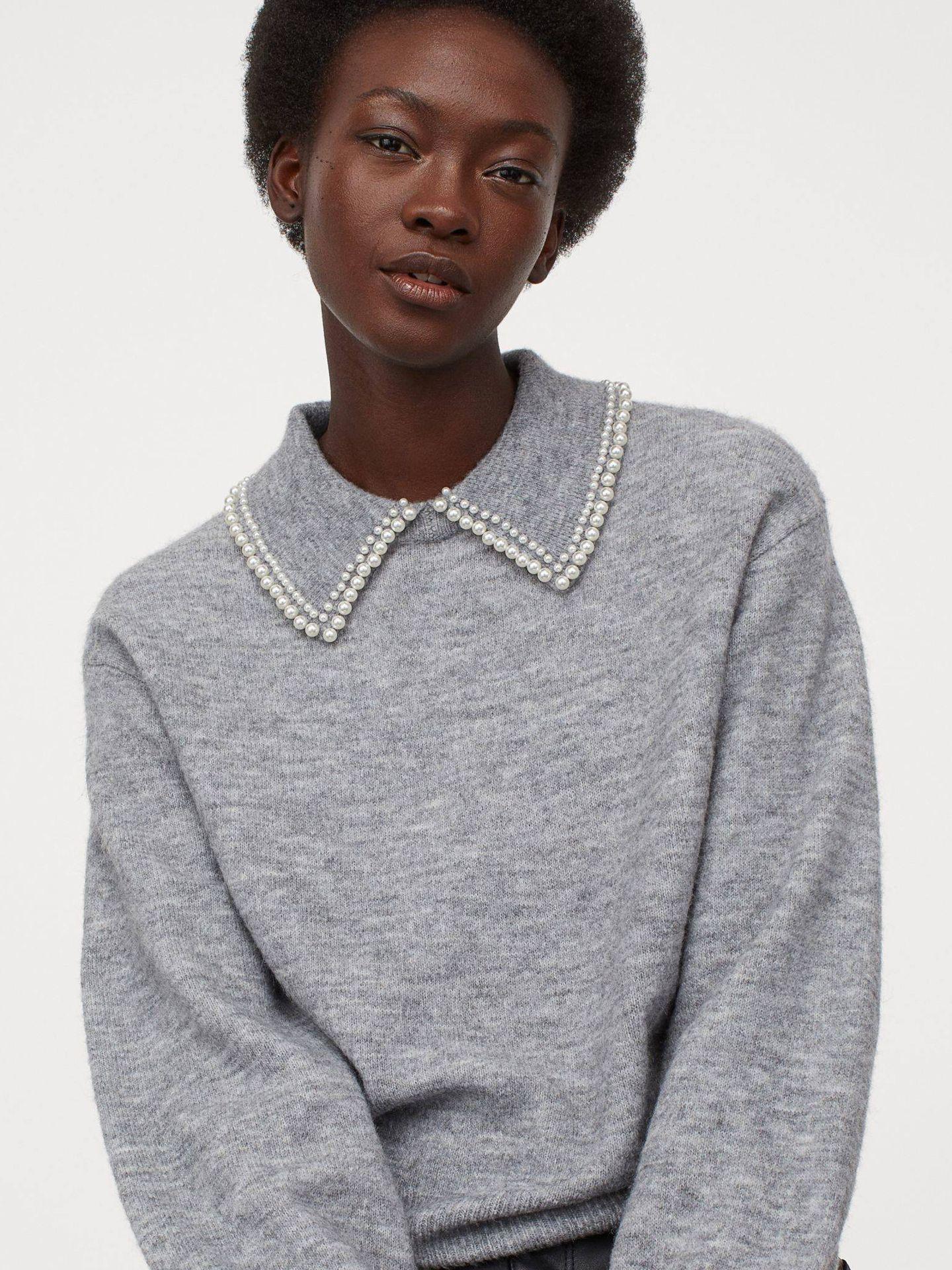 Jersey de cuello glam de HyM. (Cortesía)