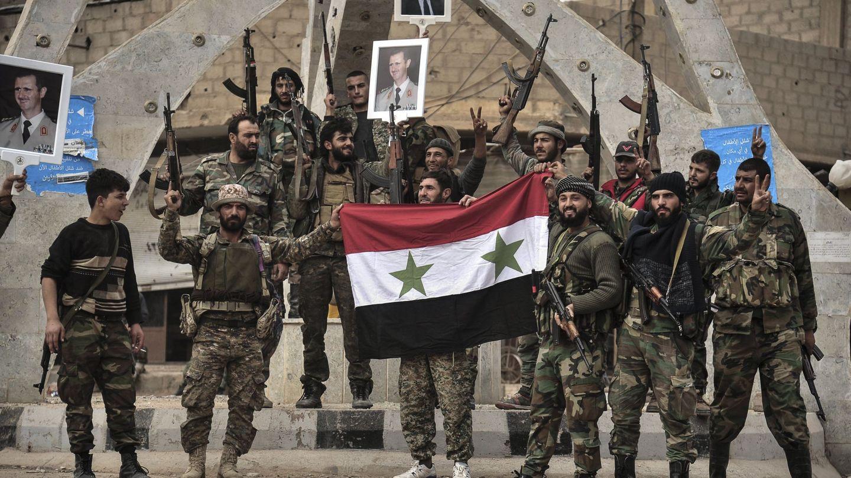 Soldados del Estado Islámico en Siria. (Efe)