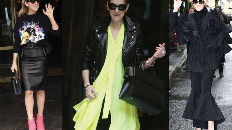 Repertorio de looks de Celine Dion en París.