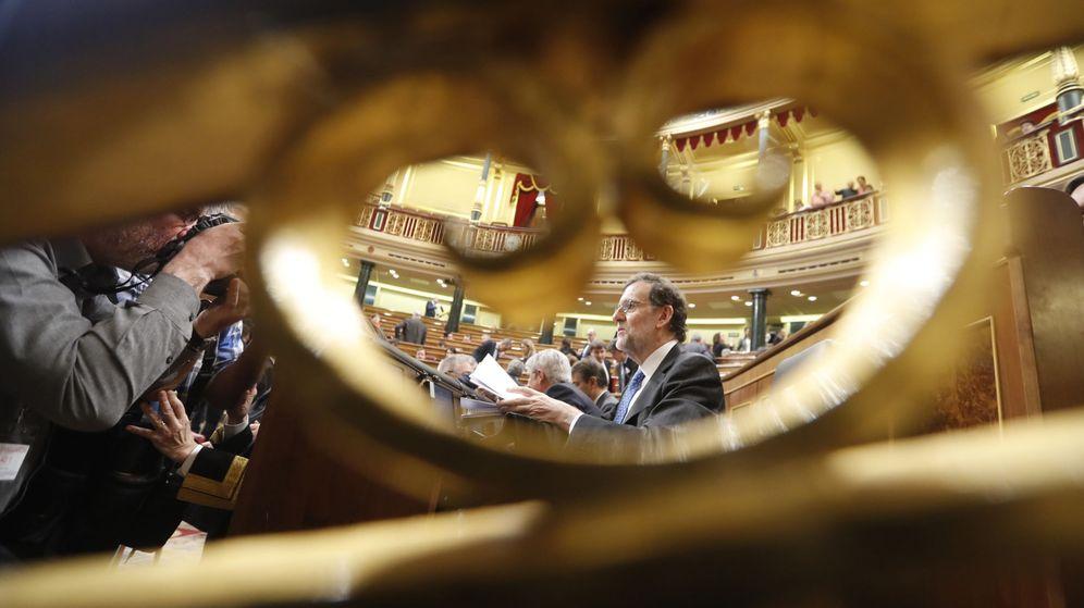 Foto: Rajoy en la sesión de control (Efe)