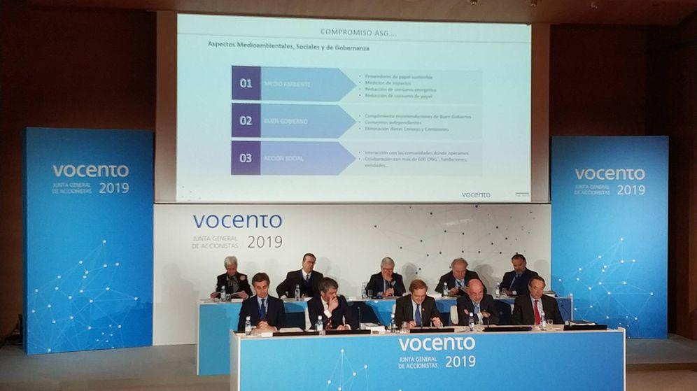 Foto: Junta general de accionistas 2019 de Vocento.
