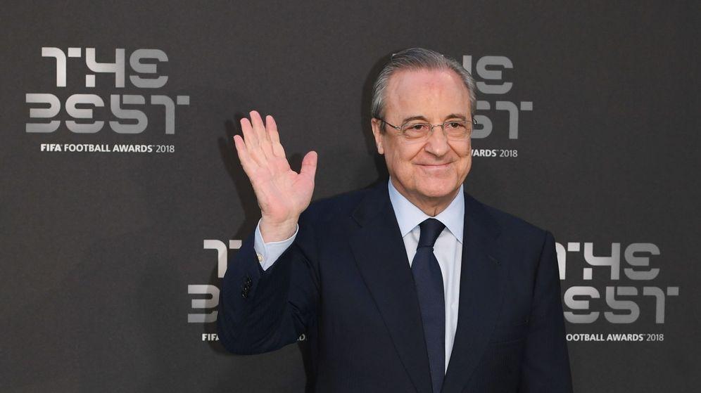 Foto: Florentino Pérez en la gala de The Best. (EFE)