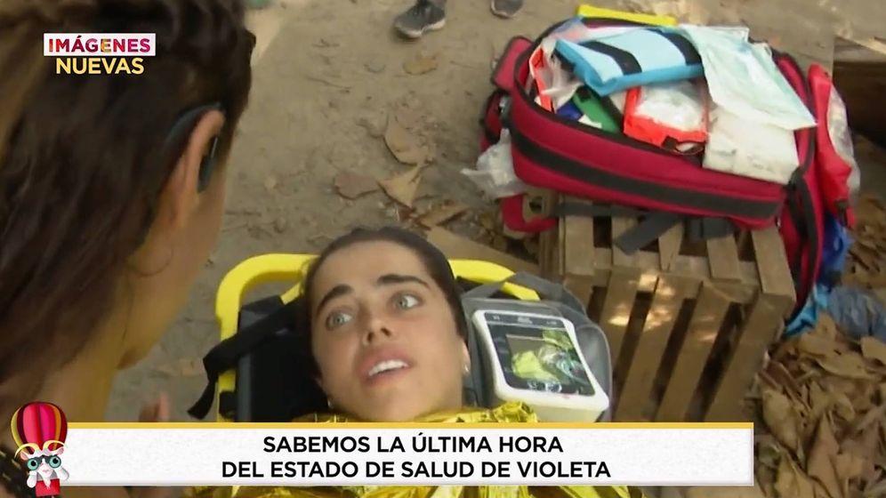 Foto: Violeta, en 'Supervivientes 2019'. (Telecinco)